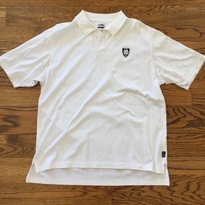 Adidas Notre Dame Golf Polo white size large